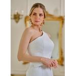 Vestido de Couro Feminino Branco Louise