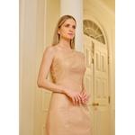 Vestido de Couro Feminino Nude Louise