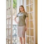 T-Shirt de Couro Feminino Verde Oliva Victoria