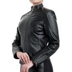 Jaqueta de Couro Feminina Preta Viviane