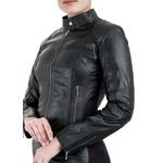 Jaqueta de Couro Feminina Preta Sofia