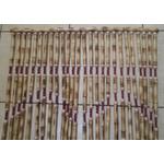 Cortina de Bambu Natural C/sisal Vermelho Trançado E Bola Madeira Copia