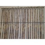 Cortina de Bambu Natural C/sisal Bicolor Trançado E Bola Madeira