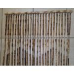 Cortina de Bambu Natural C/sisal na cor Palha Trançado