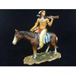 Índio Americano no Cavalo com Espingarda