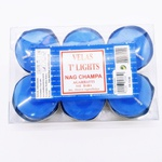 Vela Nag Champa Azul - 6 unidades