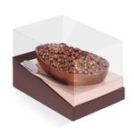Caixa Specialla Para Meio OVO com 1 Unid Liso Marrom / Rose Gold 250g