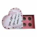 Caixa Formato Coração Feliz dia das mães 10 unit 16x16x4