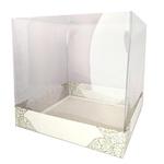 Caixa para bolo com tampa transparente
