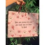 Sacola na cor Rosa
