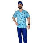 Pijama Cirúrgico Masculino - Popeye