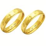Alianças de casamento e noivado em ouro 18k 750 trabalhadas antômica 5 mm