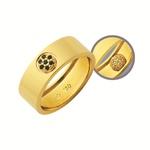 Alianças de casamento e noivado em ouro 18k 750 trabalhadas com pedras que gira e muda de cor 7.2 mm