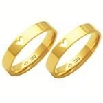 Alianças de casamento e noivado em ouro 18k 750 trabalhadas e anatômicas 4 mm
