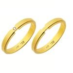 Alianças de casamento e noivado em ouro 18k 750 trabalhadas com diamante