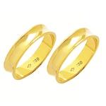 Alianças de casamento e noivado em ouro 18k 750 Côncova 4.5 mm