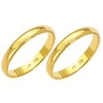 Alianças de casamento e noivado em ouro 18k 750 tradicional 3 mm