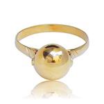 Anel de Ouro Feminino 18k 750 polido