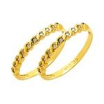 Par de Aparador de Aliança para noivado e casamento em ouro 18k 750 com diamantes