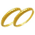 Par de Aparador de Aliança para noivado e casamento diamantado em ouro 18k 750