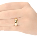 Alianças banhadas em ouro 18k anatômicas 5mm com pedra de zirconia