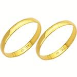 Alianças de casamento e noivado em ouro 18k. 750 tradicional 2 mm