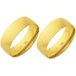 Alianças de casamento e noivado em ouro 18k 750 abaulada e anatômica 6,5 mm