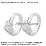 Par de Alianças Personalizadas de Guitarra em Prata 0,950
