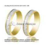 Alianças de bodas de Ouro 18 k