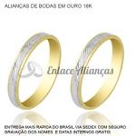 Alianças de bodas de Prata em Ouro 18 k