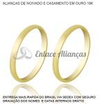 Alianças de Ouro 18 k Tradicional