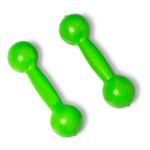 Par De Halteres 1kg Cada Emborrachado Musculação