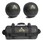 Kit De 2 Wall Ball +power Bag Crossfit Funcional