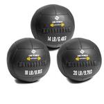 Kit Wall Ball 6 Kg - 8 Kg - 10 Kg em Couro