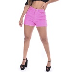 SHORTS MOM BARRA DOBRADA ROSA
