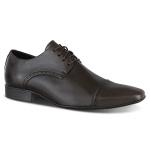 Sapato Social Cap Toe em Couro Legítimo com Cadarço