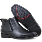 Botina Comfort Premium em Couro Legítimo com Zíper Preto