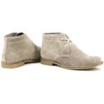Botina luxury Desert Boots Estilo Chelsea ESCRETE Em couro Camurça 503