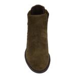 Botina Chelsea Boots Feminina Legitimo Escrete Couro Camurça Verde Musgo