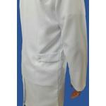Jaleco Masculino em Microfibra Gola Sport Manga Longa Branco