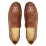 Sapato Masculino Mocassim Napa Tresse Amêndoa