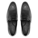 Sapato Masculino Mocassim Napa Liso Gravata Preto