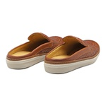 Sapato Masculino Mule Napa Tresse Amêndoa