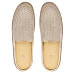 Sapato Masculino Mule Napa Tresse Off White