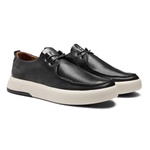 Sapato Masculino Sneaker 4 Furos Napa Confort Preto
