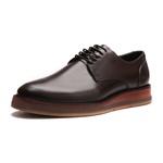 Sapato Masculino Derby Casual Liso Vintage Mouro