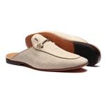 Sapato Masculino Mule Social Juta Bridão Aço Palha