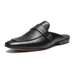 Sapato Masculino Mule Social Gravata Lisa Floater Preto