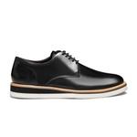Sapato Masculino Derby Casual Liso Vintage Preto
