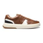 Sapato Masculino Sneaker Recortes Look Amendoa